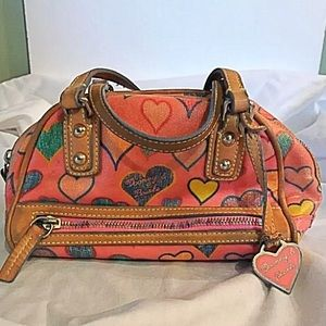 Dooney and Bourke Coates CanvasHeart Tote